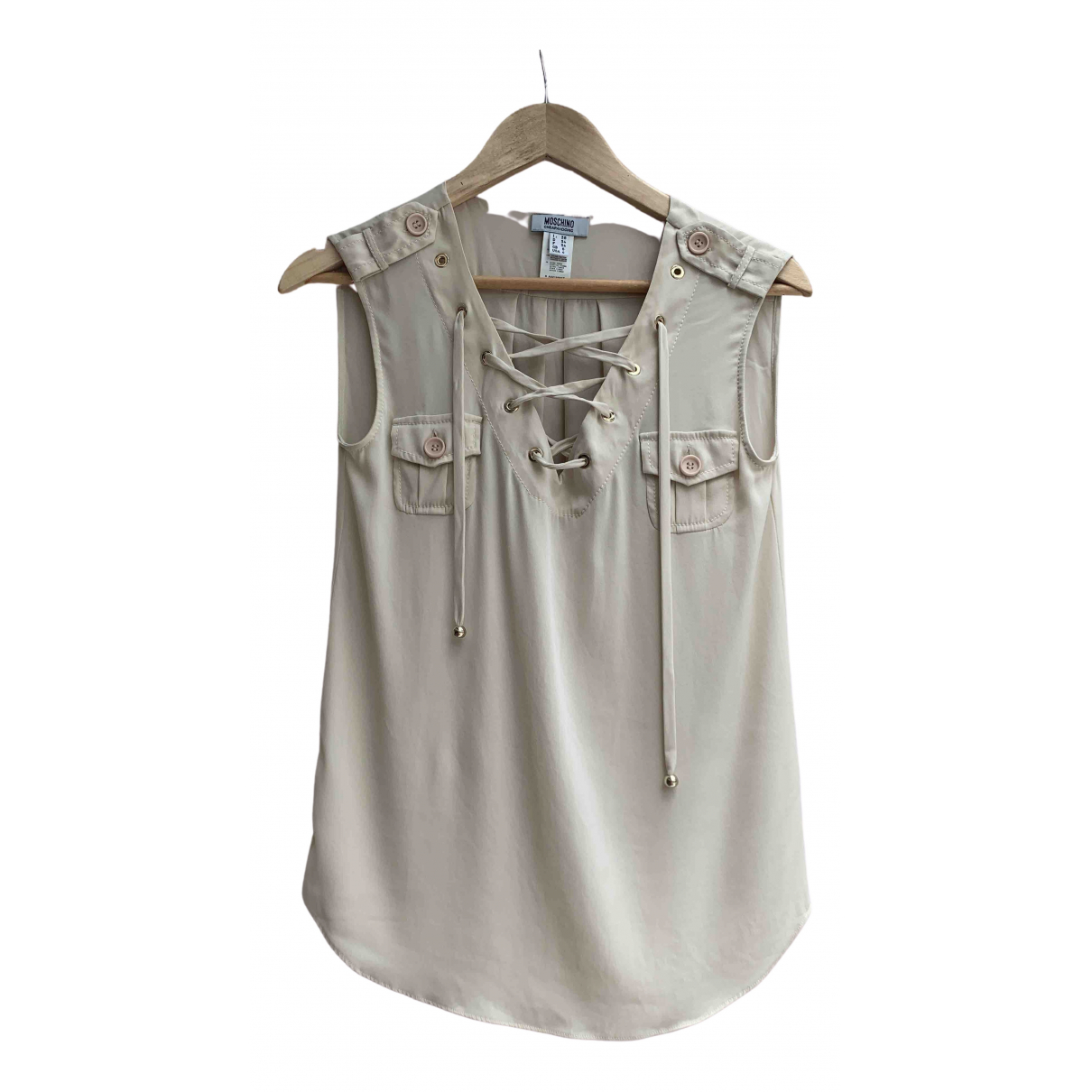 Moschino Cheap And Chic - Top   pour femme en coton - beige