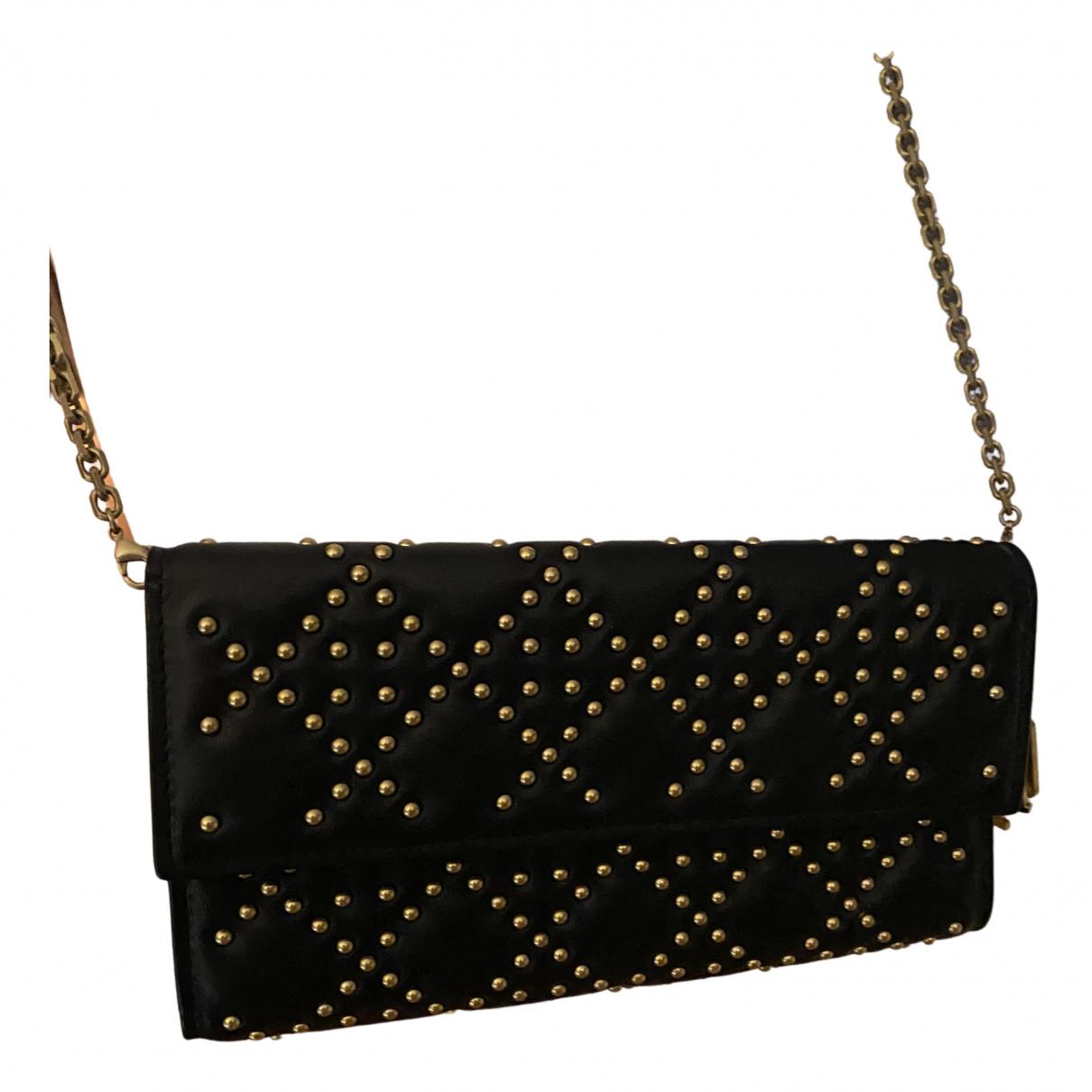 Dior Lady Dior Handtasche in  Schwarz Leder