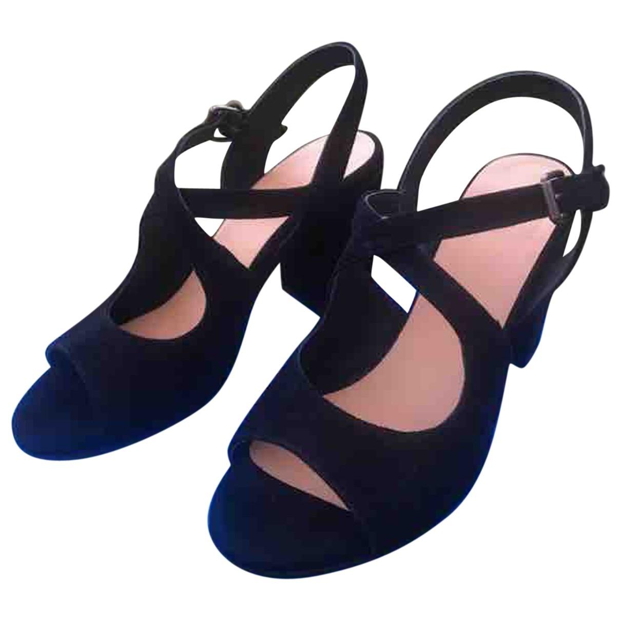 Sandalias de Terciopelo Atelier Voisin