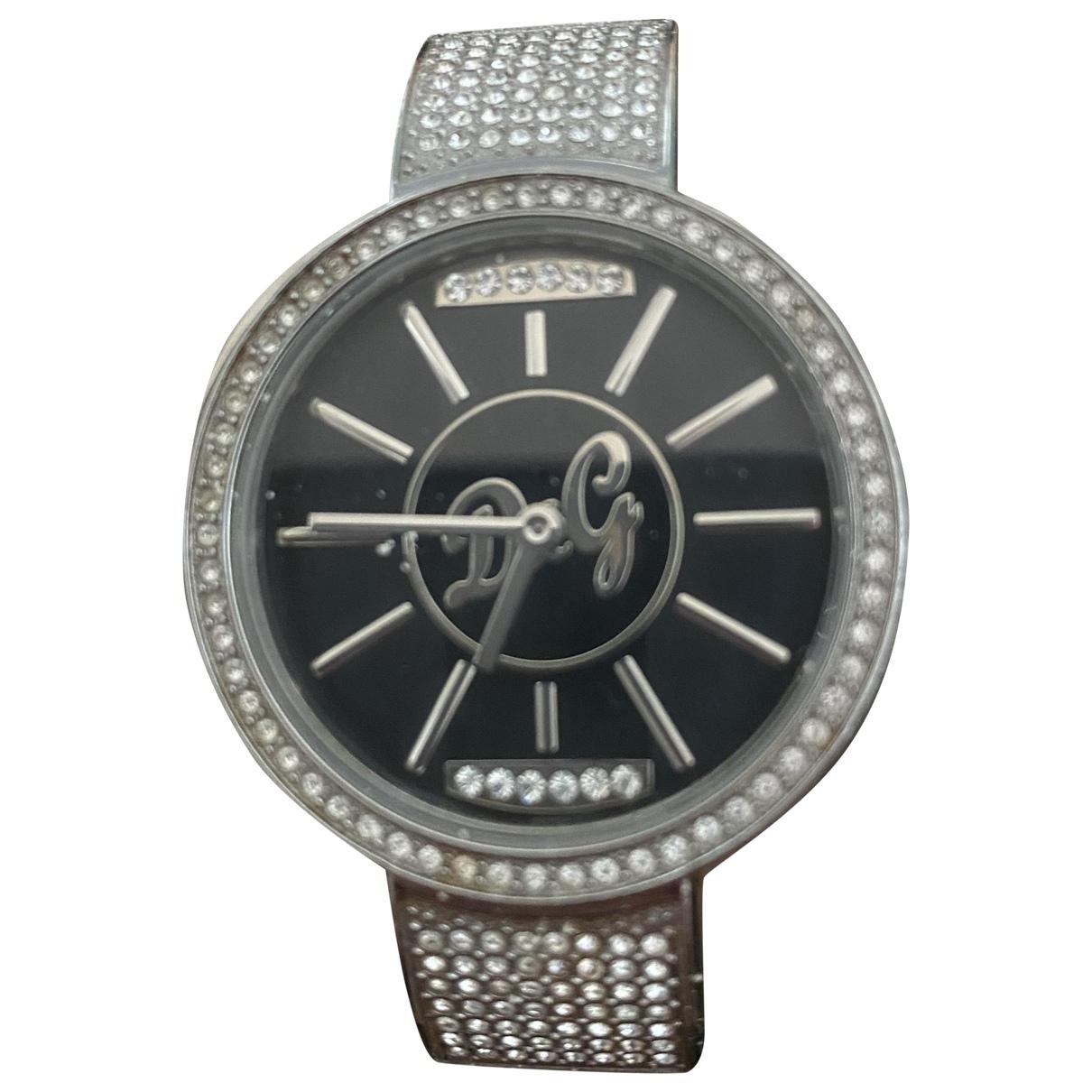 D&g \N Silver Steel watch for Women \N