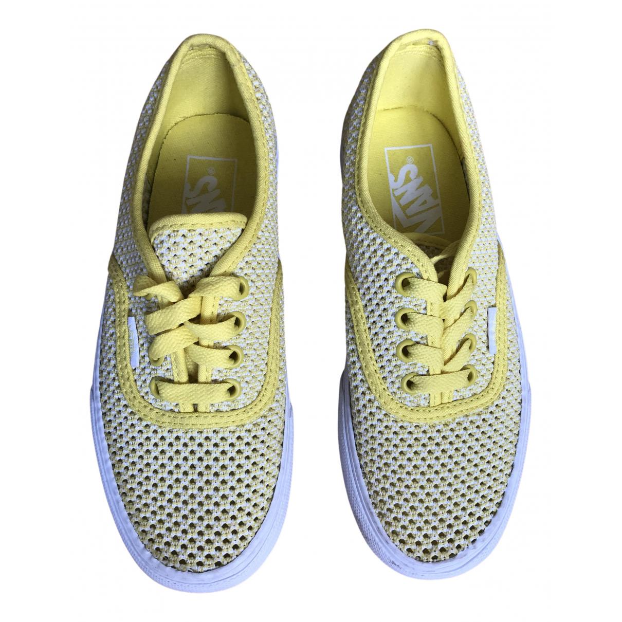 Vans - Baskets   pour femme en caoutchouc - jaune