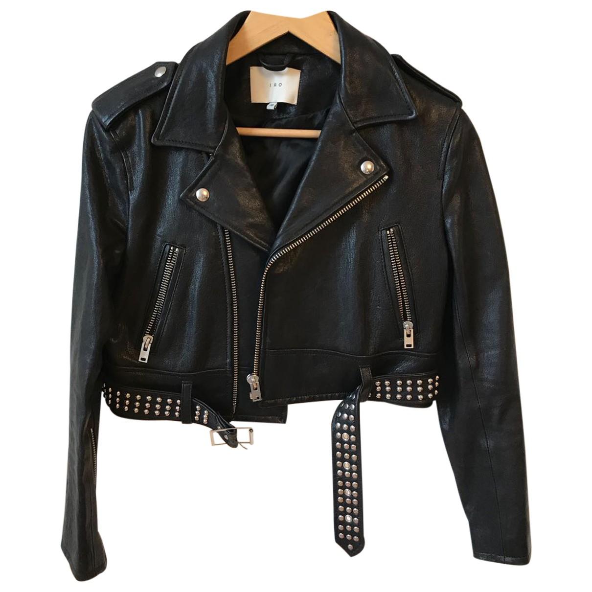 Iro - Veste   pour femme en cuir - noir