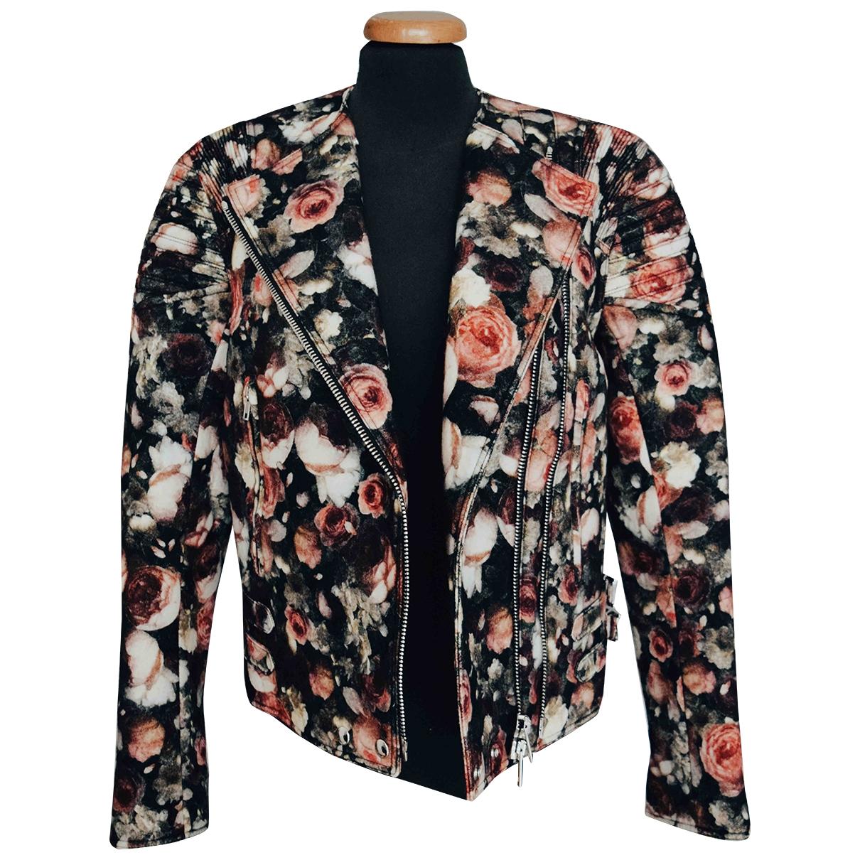 Givenchy \N Lederjacke in  Bunt Wolle
