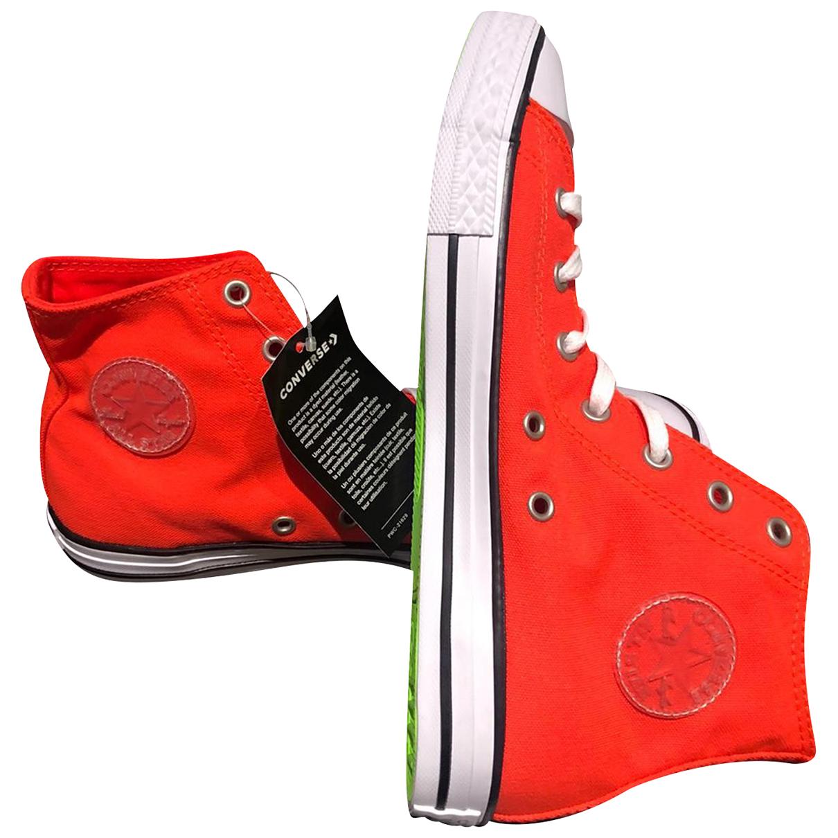 Converse \N Sneakers in  Orange Leinen