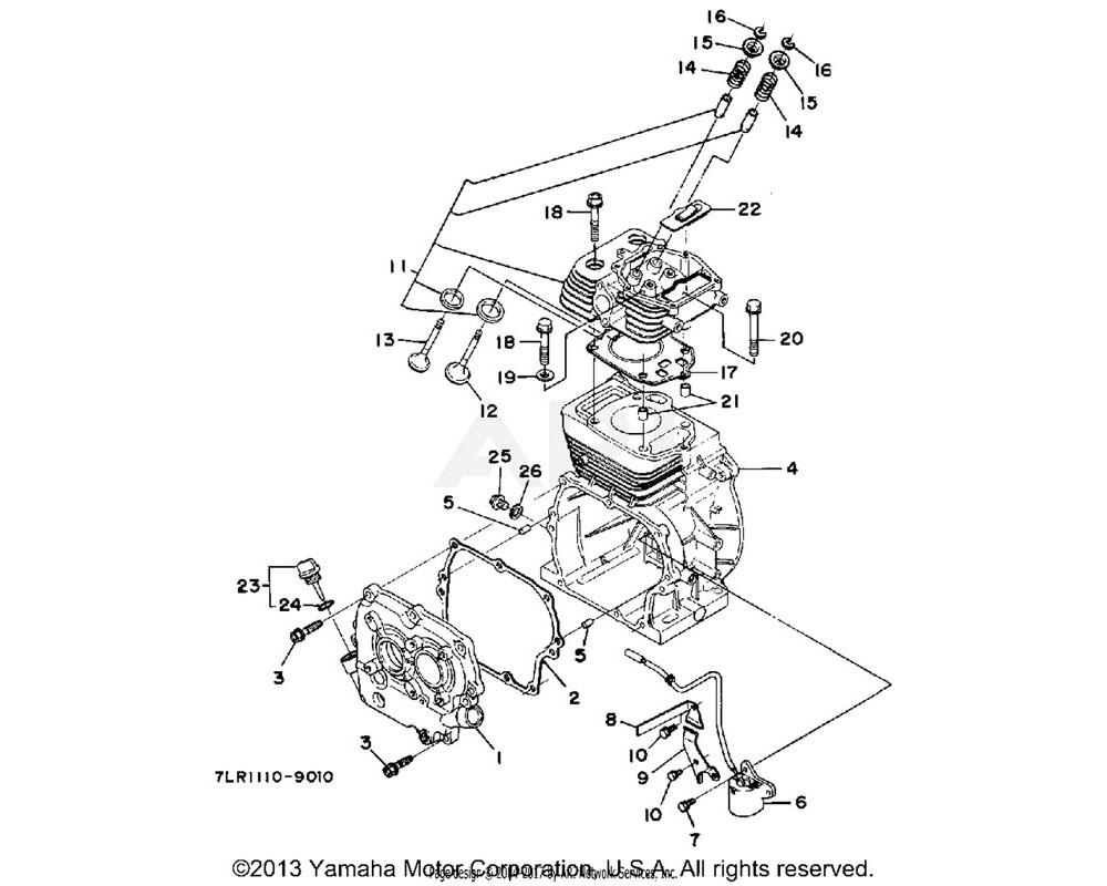 Yamaha OEM 99999-03869-00 KIT, CYLINDER HEAD