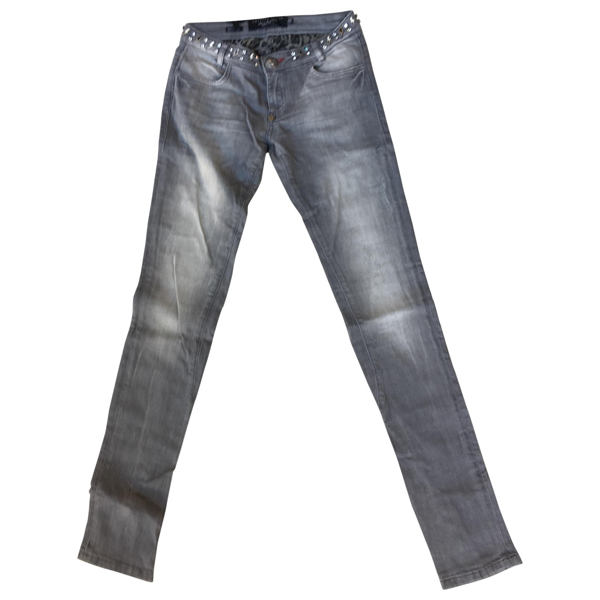 Philipp Plein \N Grey Denim - Jeans Jeans for Women 25 US