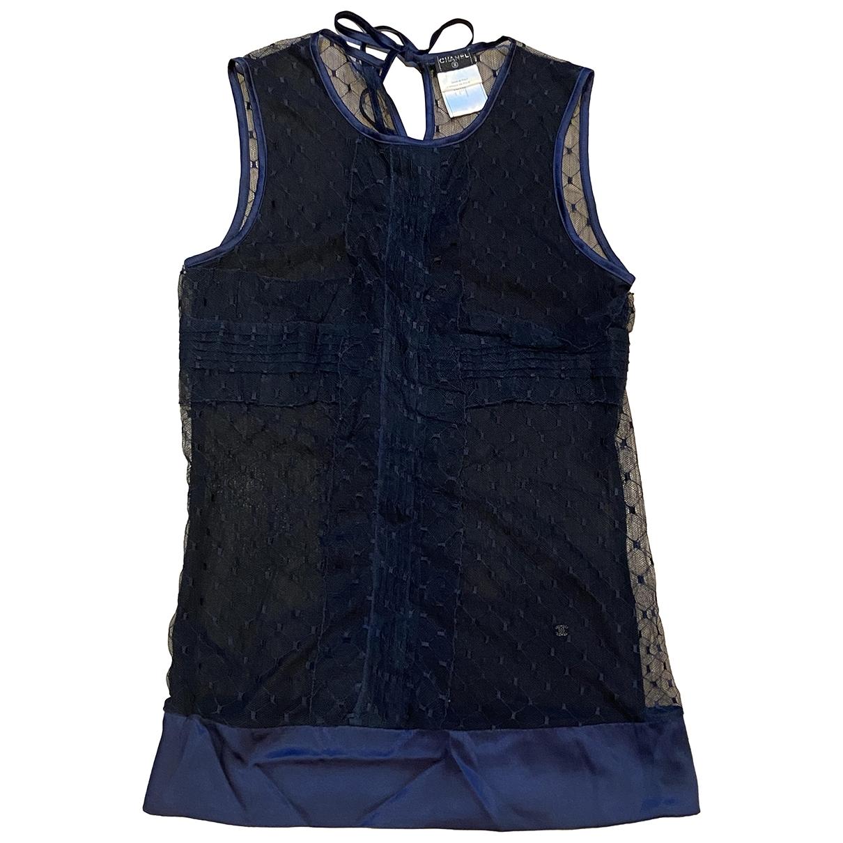 Chanel \N Navy Silk  top for Women 36 FR