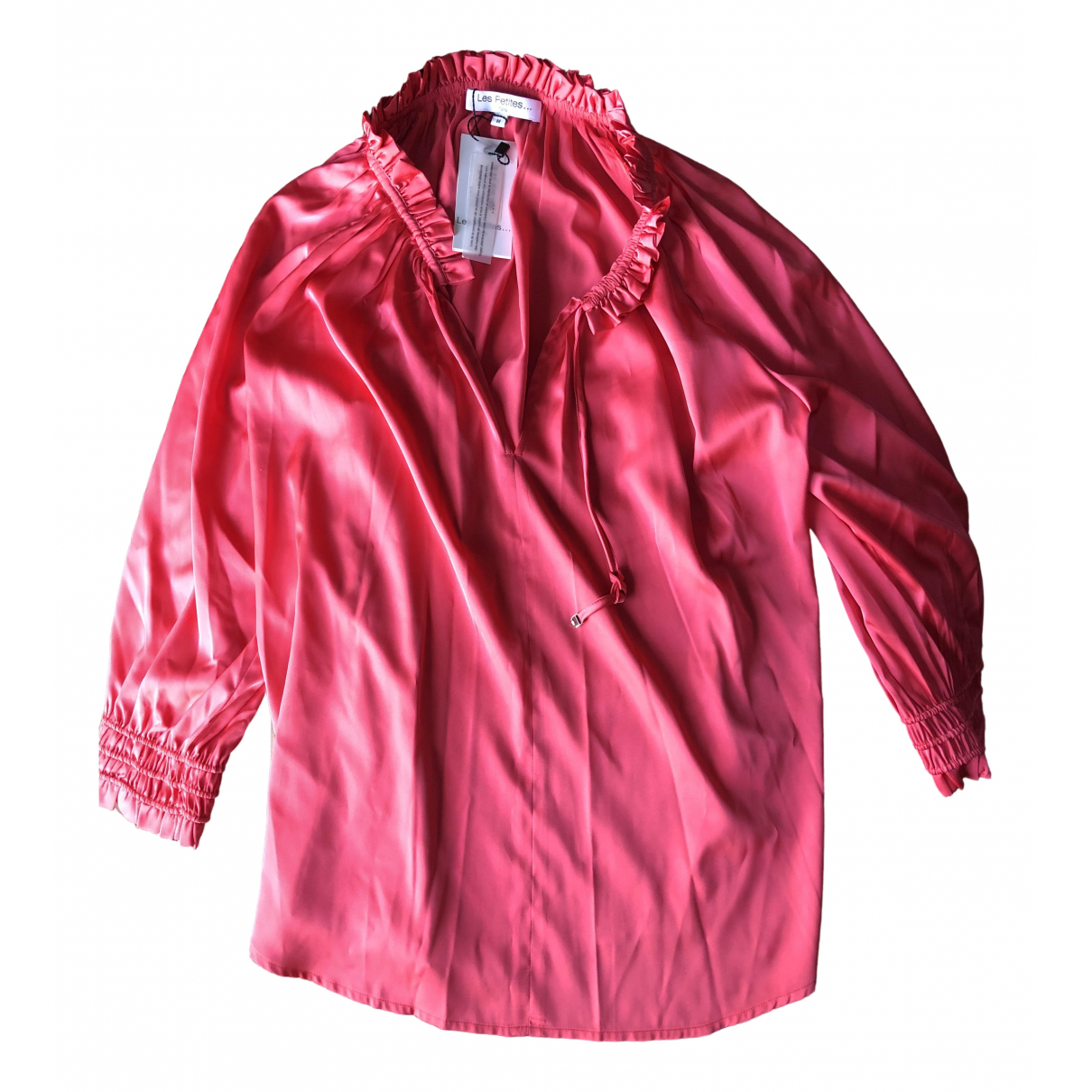 Les Petites - Top   pour femme en soie - rose