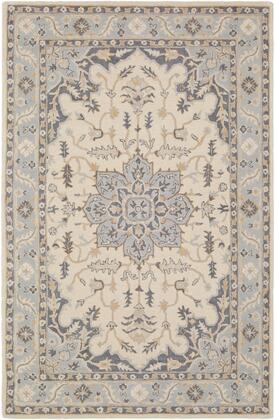 Viva VVA-1003 8' x 10' Rectangle Traditional Rugs in Light Gray  Denim  Beige  Ivory