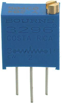 Bourns 10kΩ, Through Hole Trimmer Potentiometer 0.5W Top Adjust , 3296 (50)