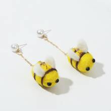 Bee Charm Drop Earrings