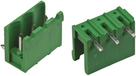 TE Connectivity , Buchanan, 3 Way, 1 Row, Right Angle PCB Header (5)