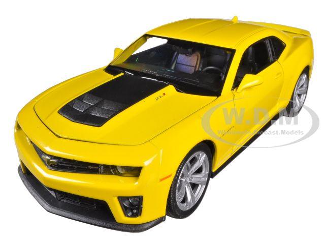 Chevrolet Camaro ZL1 Yellow 1/24 Diecast Car Model by Welly