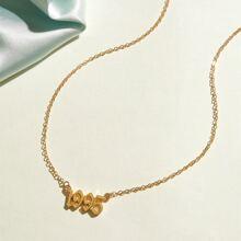 1pc Year Charm Halskette