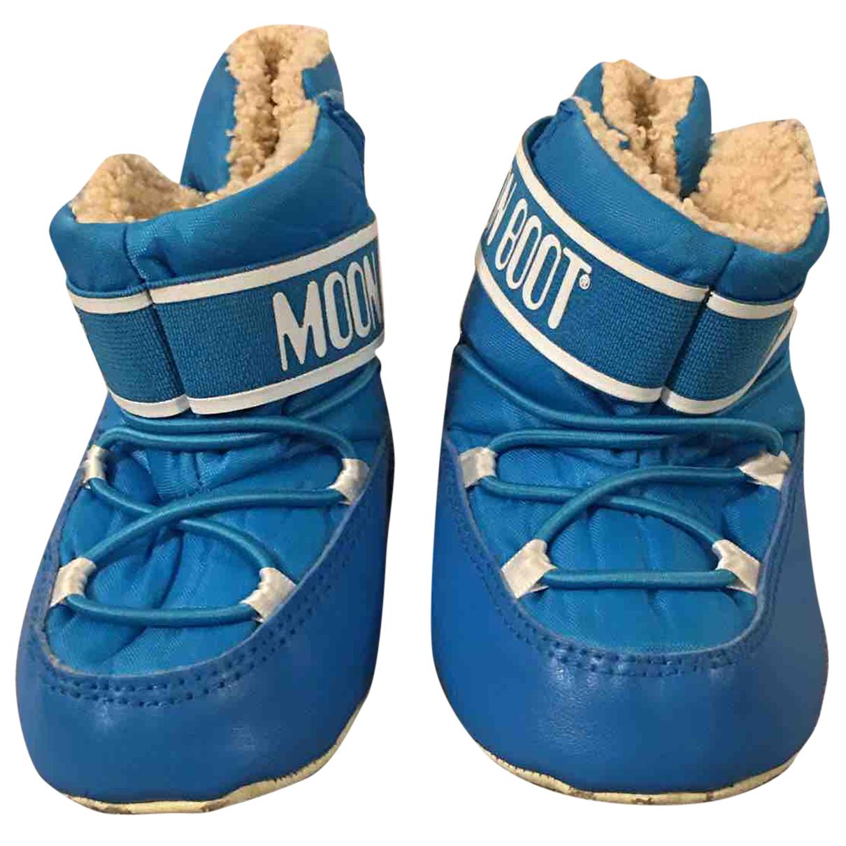 Moon Boot - Bottes.Bottines   pour enfant - bleu