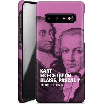 Samsung Galaxy S10 Smartphone Huelle - Kant Blaise Et Pascal von Fists Et Lettres