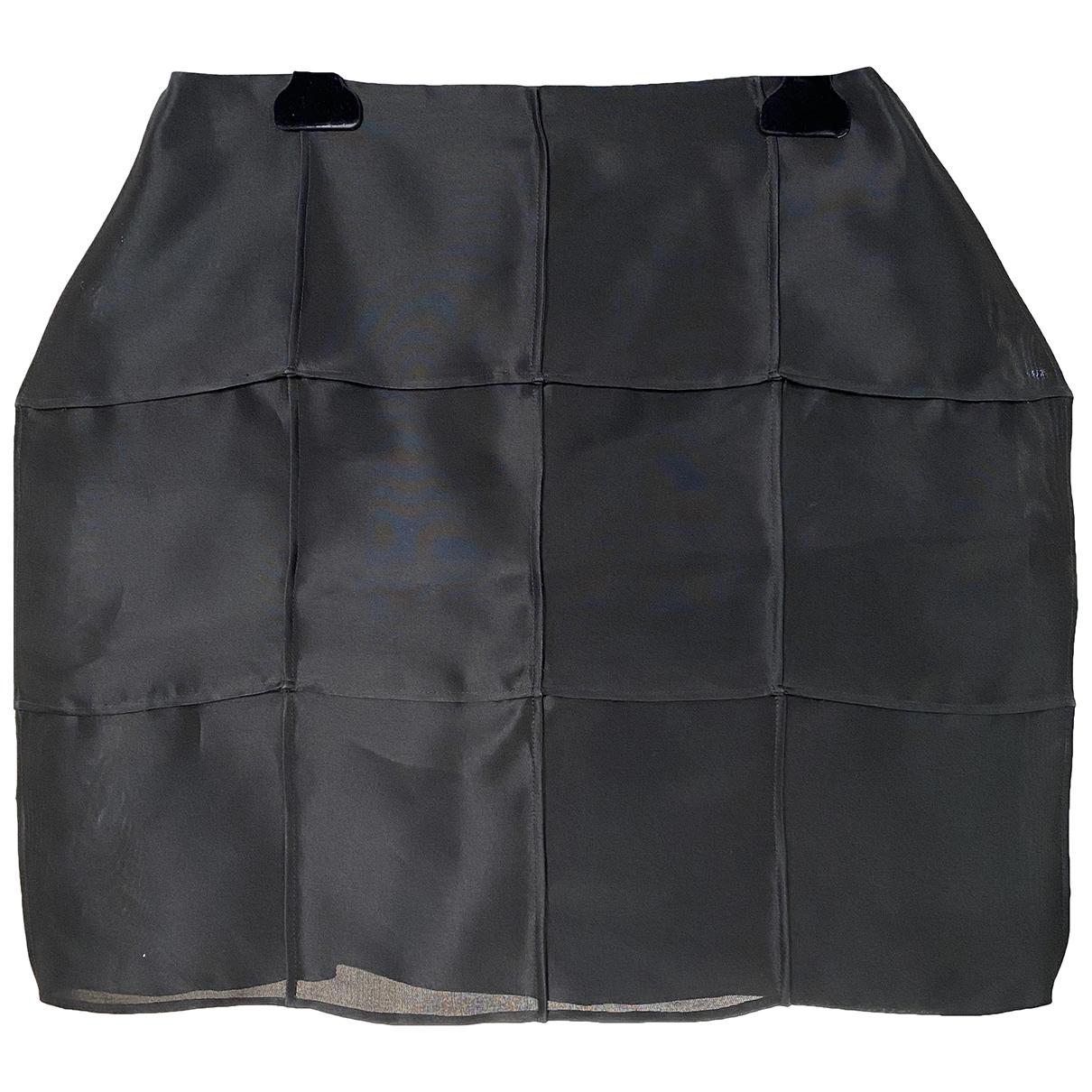 Fendi \N Black Silk skirt for Women 40 IT