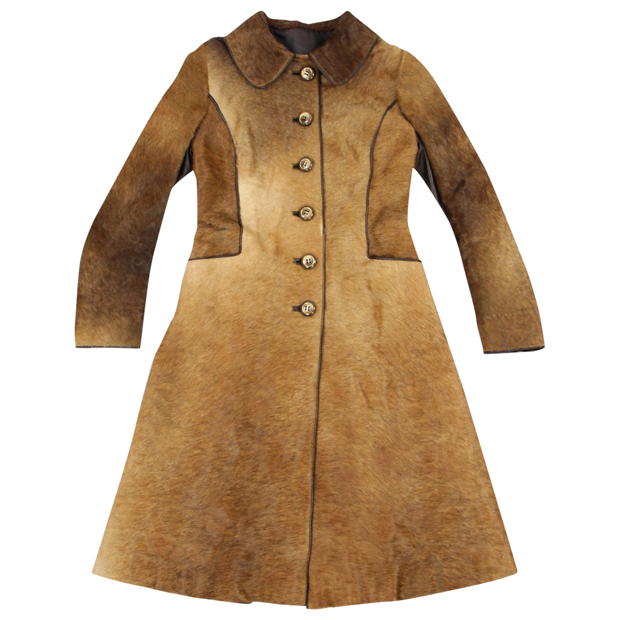 Non Signé / Unsigned \N Brown Fur coat for Women XS International