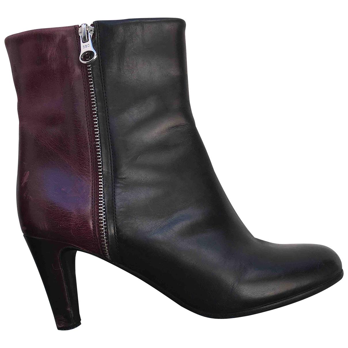 See By Chloe - Boots   pour femme en cuir - noir