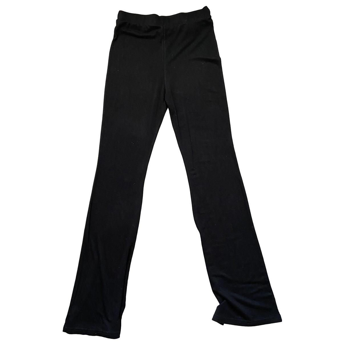 Pantalon en Viscosa Negro Monki