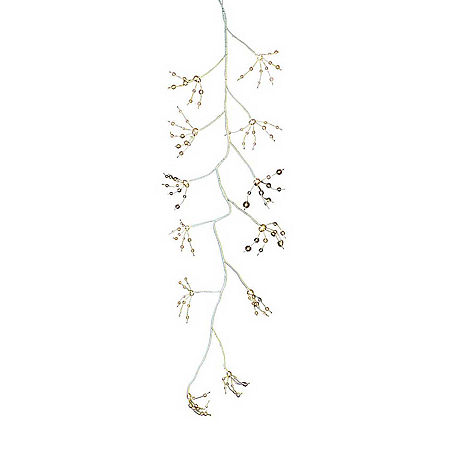 Kurt Adler Indoor/Outdoor Christmas Garland, One Size , White