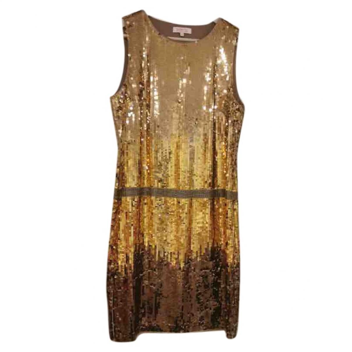 Matthew Williamson \N Gold Glitter dress for Women 10 UK