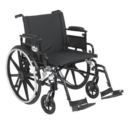pla422fbdaar-sf Viper Plus Gt Wheelchair With Flip Back Removable Adjustable Desk Arms  Swing Away Footrests  22