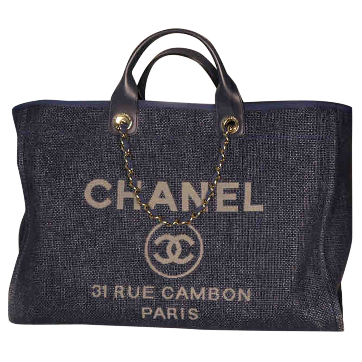 Chanel Deauville Blue Denim - Jeans handbag for Women N