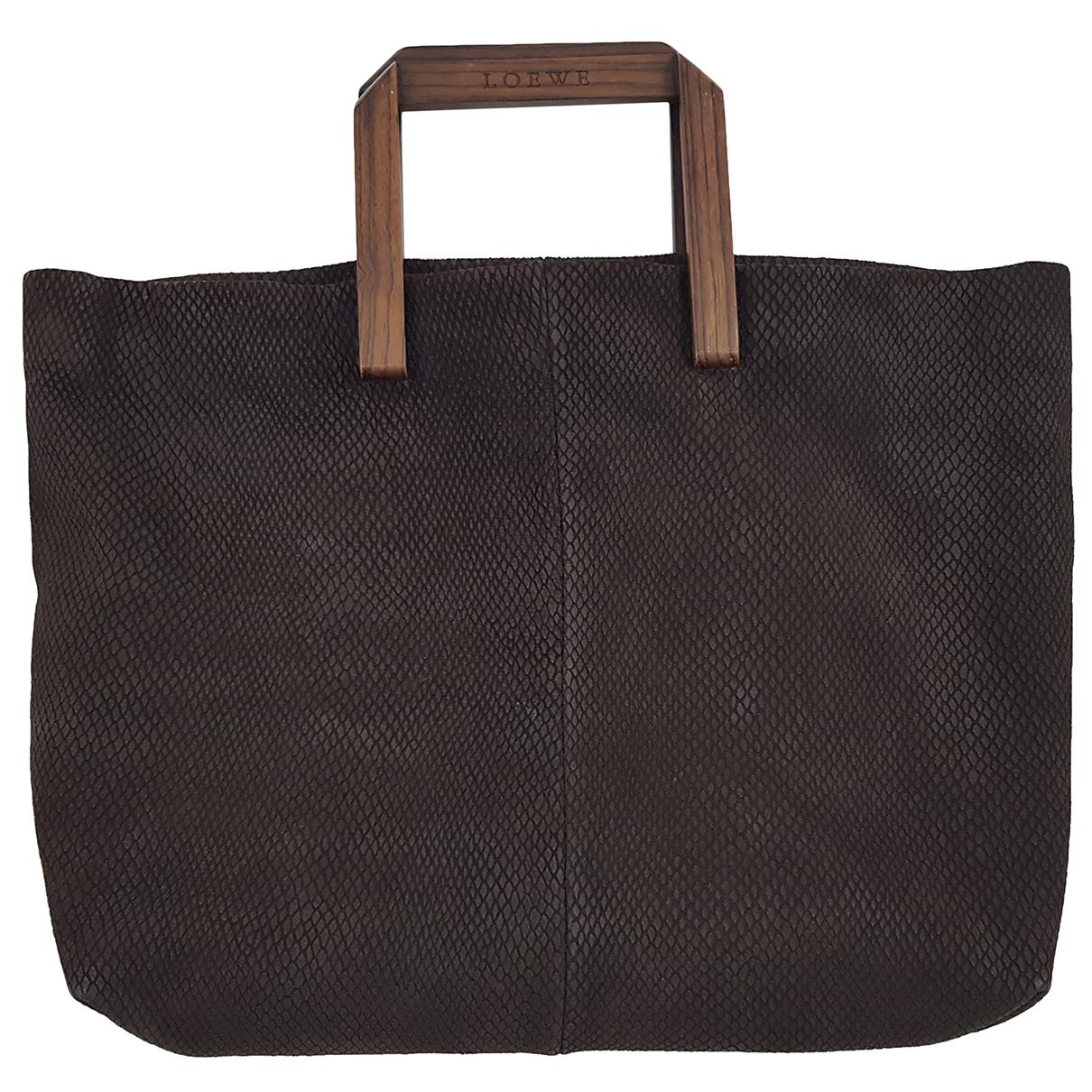 Loewe \N Brown Suede handbag for Women \N