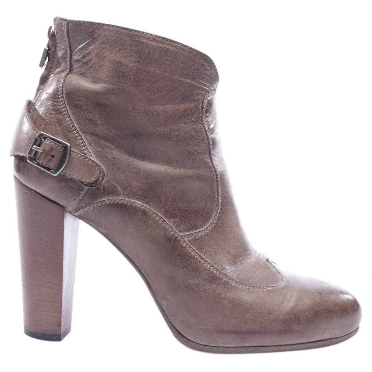 Belstaff \N Grey Leather Ankle boots for Women 41 EU