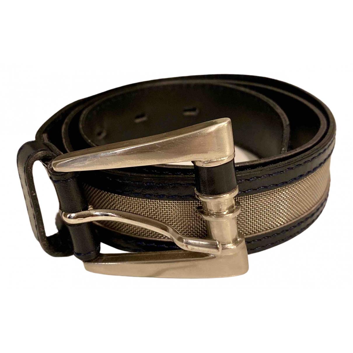 Karl Lagerfeld N Black Leather belt for Women 80 cm