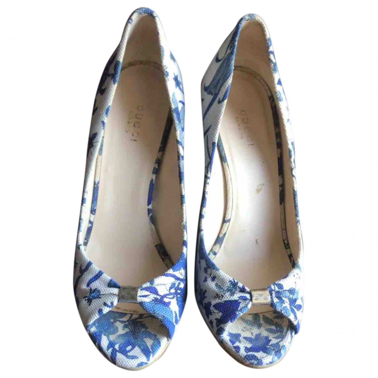 Gucci - Escarpins   pour femme en toile - bleu