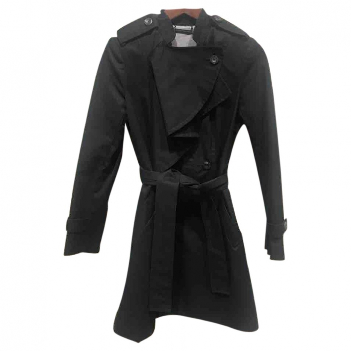 Diane Von Furstenberg \N Black Cotton coat for Women 4 US