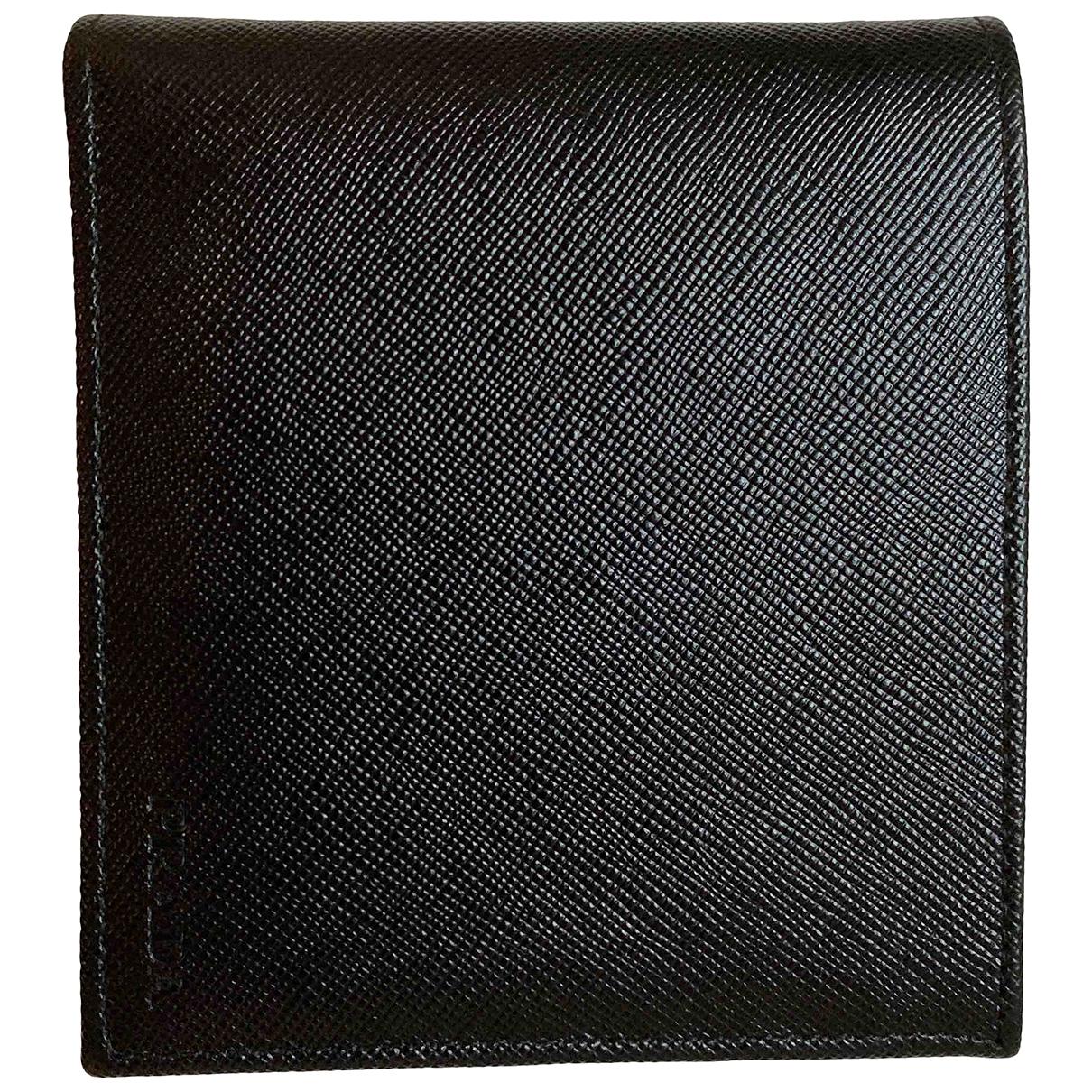 Prada - Petite maroquinerie   pour homme en cuir - noir