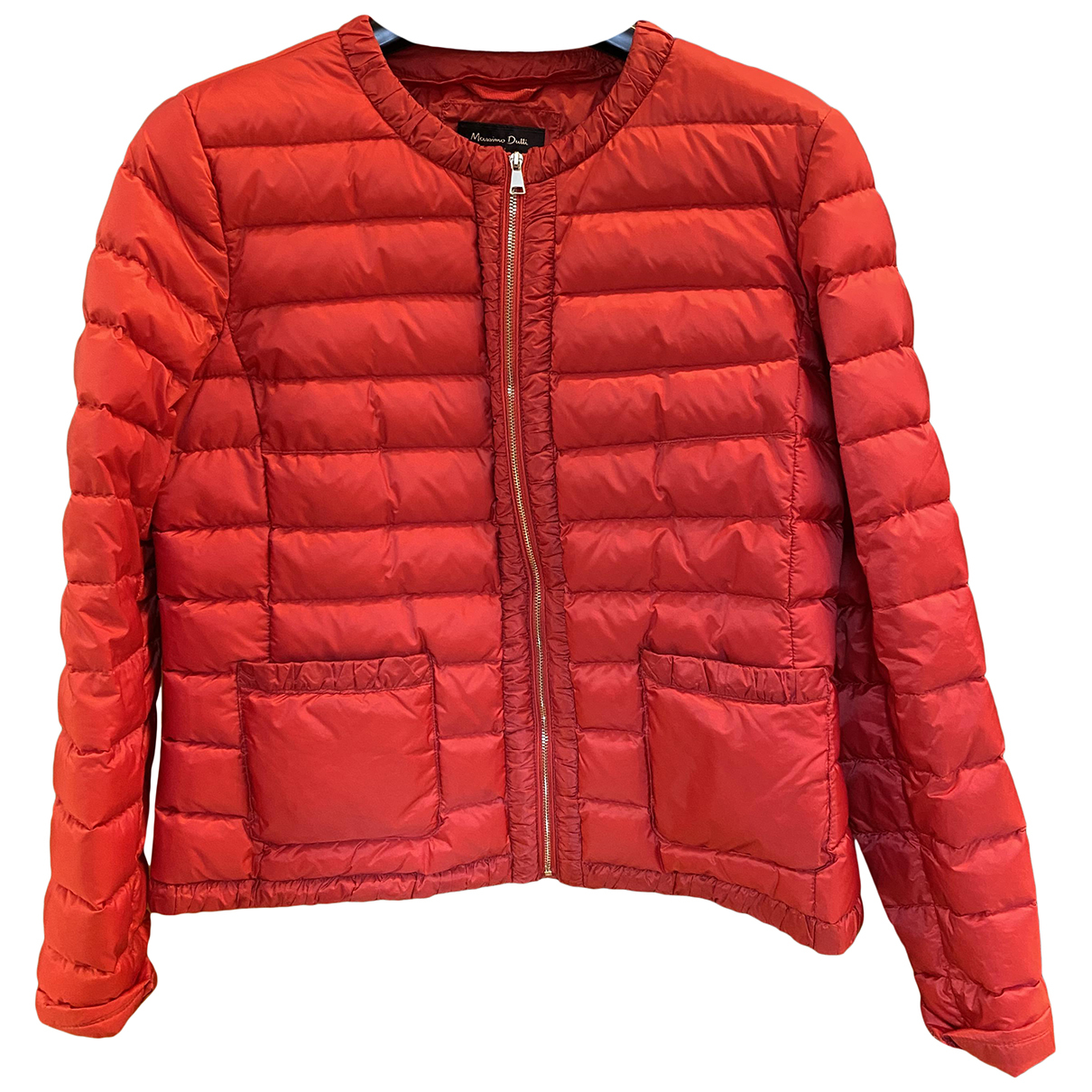 Massimo Dutti N Red Leather jacket for Women L International