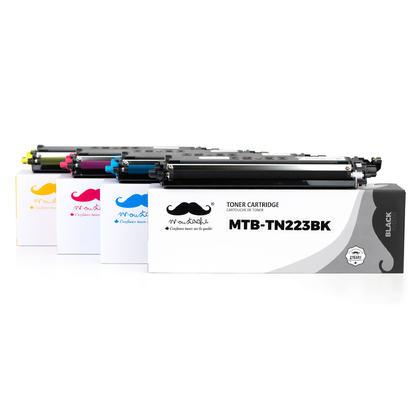 Compatible Brother TN223 cartouche de toner combo BK/C/M/Y - avec puce
