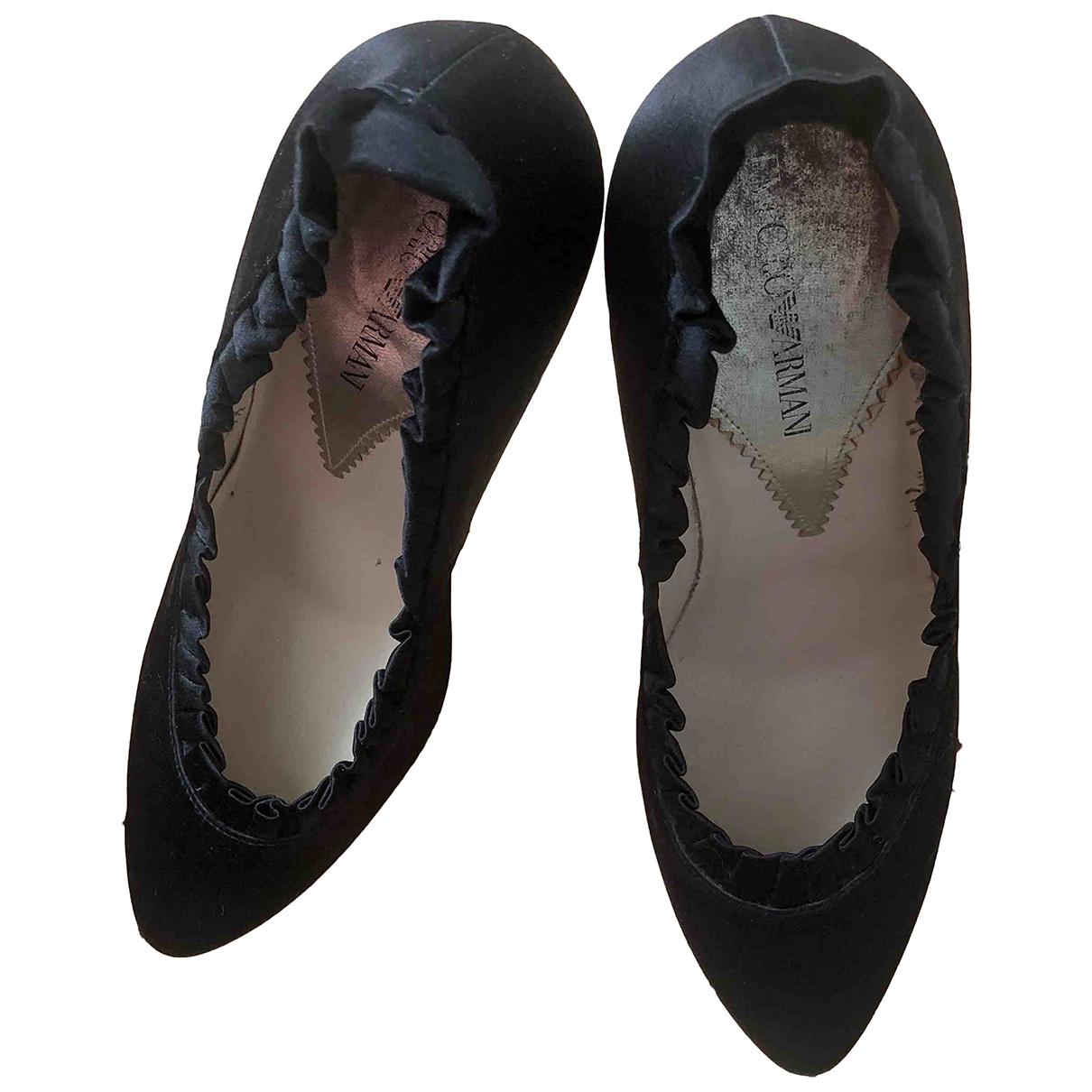 Emporio Armani - Escarpins   pour femme en toile - noir