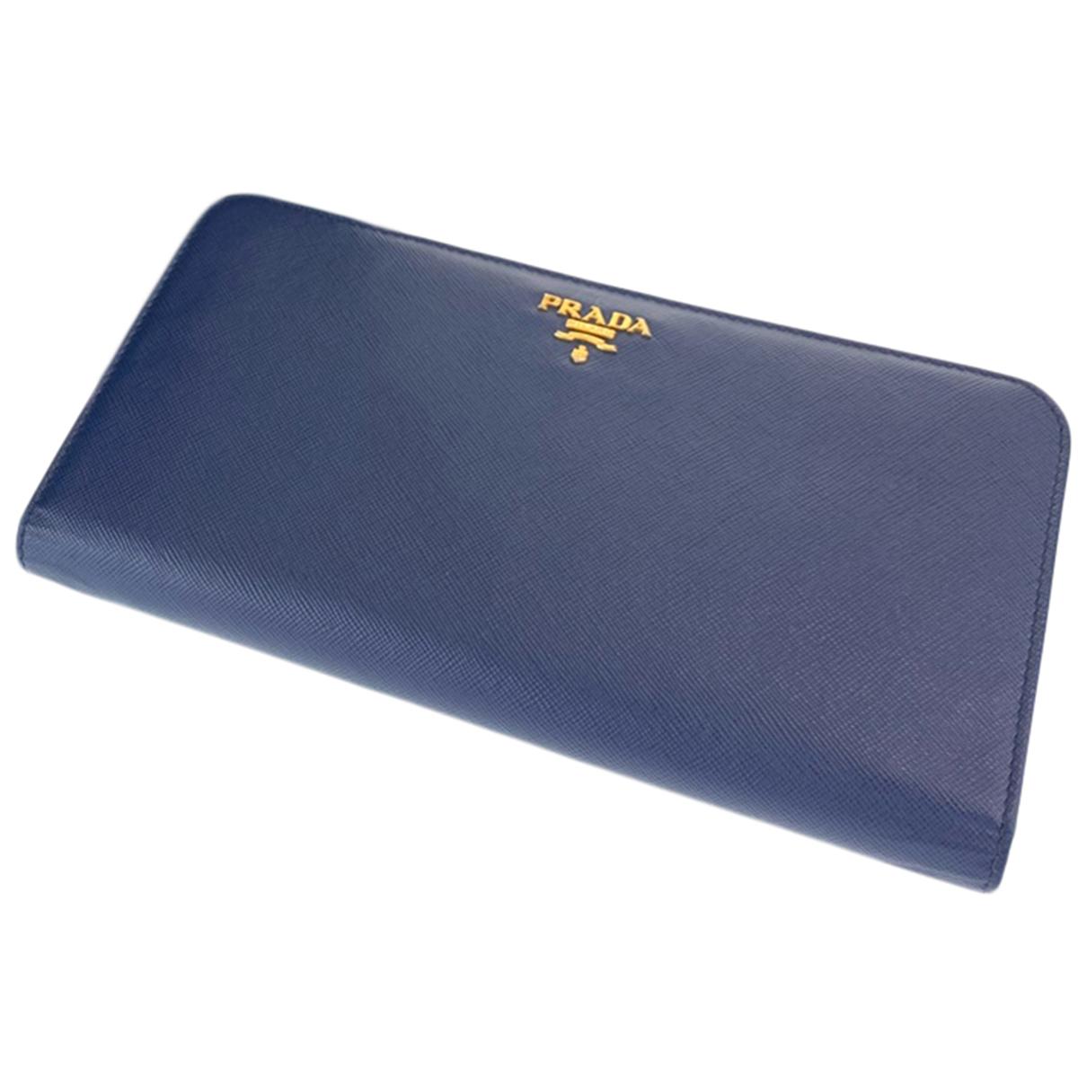 Prada - Portefeuille   pour femme en cuir