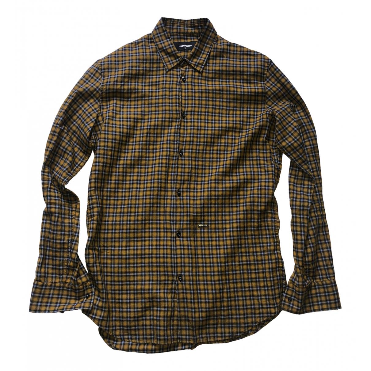 Dsquared2 - Chemises   pour homme en coton - jaune