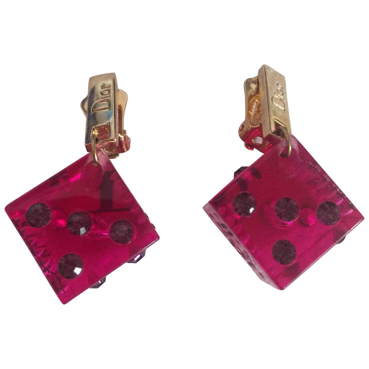 Dior Monogramme OhrRing in  Gold Kunststoff