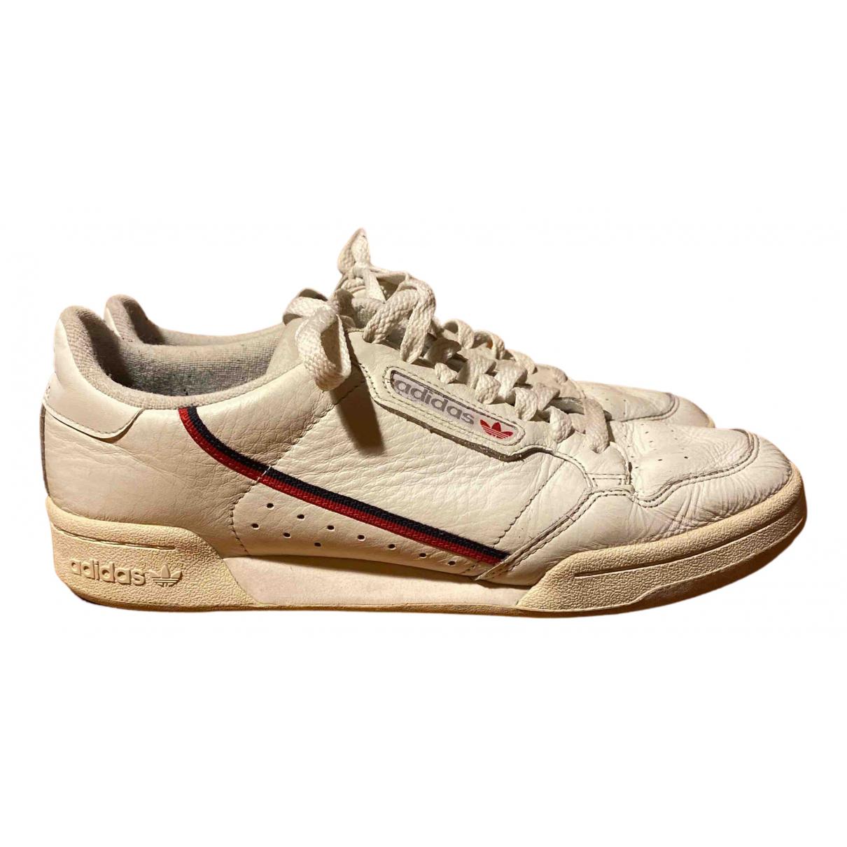 Adidas - Baskets Continental 80 pour homme en cuir - beige