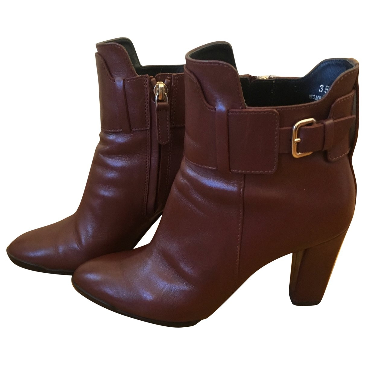 Tod's \N Brown Leather Ankle boots for Women 35.5 EU