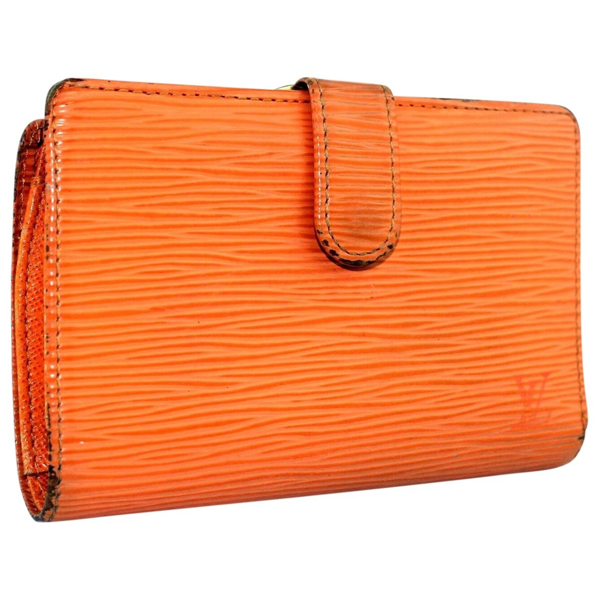 Louis Vuitton \N Portemonnaie in  Orange Leder