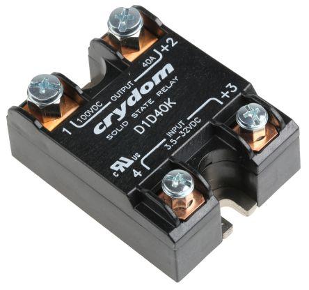 Sensata / Crydom 40 A dc Solid State Relay, Panel Mount, MOSFET, 100 V dc Maximum Load