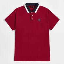 Polo Shirt mit Pferd Muster
