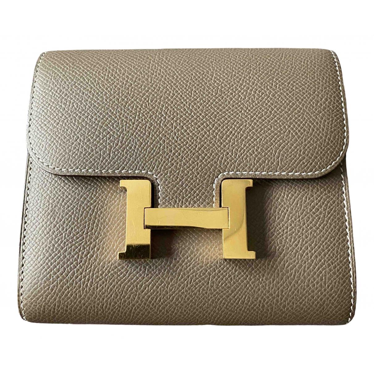 Hermes Constance Kleinlederwaren in  Beige Leder