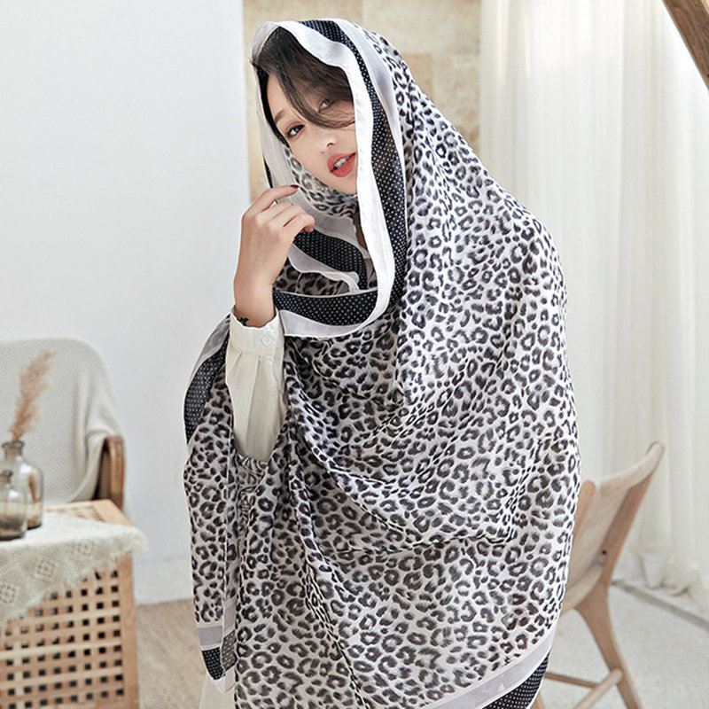 Women Print Hijab Bohemia Travel Beach Sunscreen Ethnic Vintage Vogue Polyester Soft Scarf Shawl