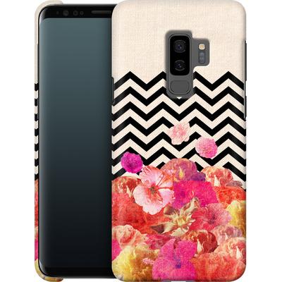 Samsung Galaxy S9 Plus Smartphone Huelle - Chevron Flora II von Bianca Green