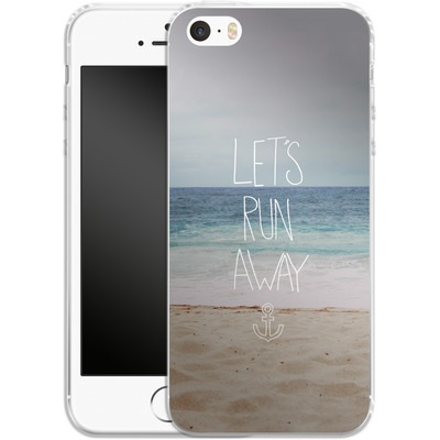 Apple iPhone 5 Silikon Handyhuelle - Lets Run Away - Sandy Beach von Leah Flores