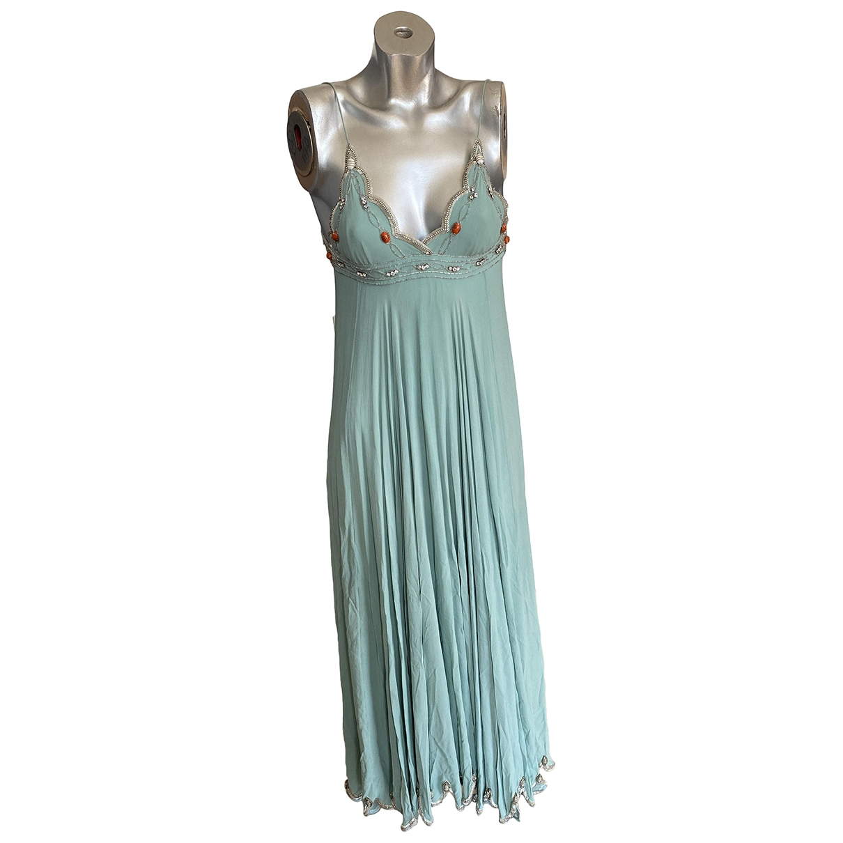 Matthew Williamson \N Green Silk dress for Women 6 UK